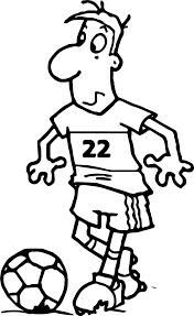 soccer player cartoon free playing football coloring page