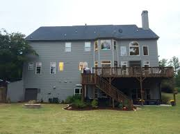 deck ideas for two story homes second story deck walk out