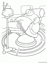 coloring page very fat boy