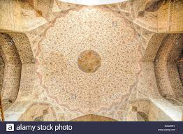 Beautiful Texture Beautiful Texture Of Ceiling Of Mosque In Esfahan Iran Stock