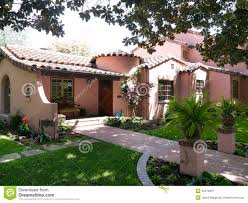 luxury adobe house in afternoon sun stock image image 32478301