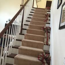Christmas Banister Garland Ideas Christmas Staircase Pine And Ornament Garland U2013 Country Craft Corner