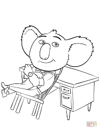 buster from sing movie coloring page free printable coloring pages