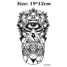 big tattoos for men aliexpress com buy 2cps eye u0026 lightning totem temporary