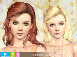 sims 3 custom content hair newsea j150 sunset glow sims3 stuff pinterest sims