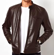 desain jaket warna coklat jaket kulit pria young