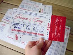 ticket wedding invitations cool collection of ticket wedding invitations which