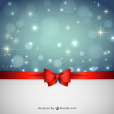 christmas background with red ribbon vector free download