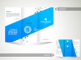 abstract professional trifold brochure template or flyer design