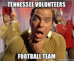 Tennessee Vols Memes - tennessee volunteers football team captain kirk choking make a meme