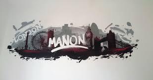graffiti chambre décoration graffiti au style pour la chambre de manon