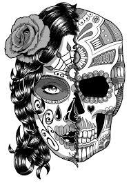 Halloween Skull Drawings Coloriage Silhouette Femme Recherche Google Peinture
