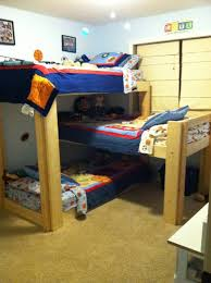 3 Level Bunk Bed Smothery Triple L Bunk Beds With Family Menne Thoughts Along Bed