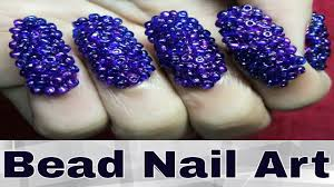 easy bead nail art designs for kid at home youtube