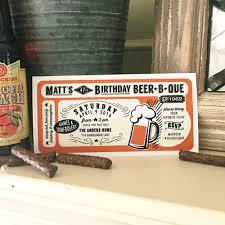 new beer b que man birthday party invitation anders ruff custom
