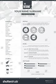 Resume Vector Vector Resume Template Cv Brochure Layoutmagazine Stock Vector