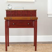 What Is A Secretary Desk by Safavieh Abigail Egyptian Red And Oak Desk With Drawers Amh6520a