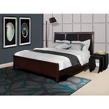 west hampton boston king size bed black accented espresso bj u0027s