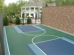 backyard basketball court flooring sport courts images and picture gallery indoor and outdoor courts