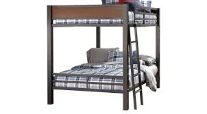 gray full full bunk bed