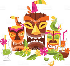 Vector Illustration Of Hawaiian Luau Party Stock Vector Art