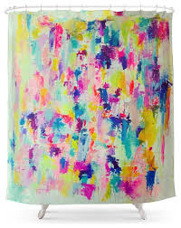 society6 bright neon colorful abstract painting shower curtain eclectic shower curtains