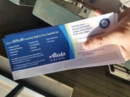 Alaska discount travel images Seattle mariners alaska airlines voucher singleflyer jpg