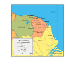 The Map Of South America by Maps Of French Guiana Detailed Map Of French Guiana In English