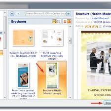microsoft office brochure templates free a4 tri fold brochure