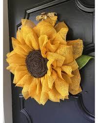 burlap sunflower wreath savings on sunflower wreath yellow burlap sunflower wreath