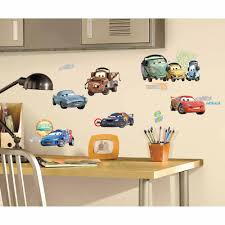 roommates cars 2 peel and stick wall decals rmk1583scs the home