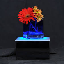 lighted display stand for glass art led display stand 8 x 8 x 5 lighted glass art display