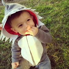 Infant Shark Halloween Costume Project Baby Mom Happy Halloween Diy Shark Costume Project