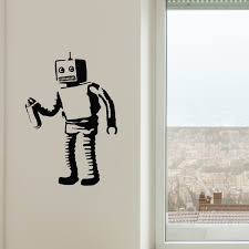 banksy robot walls need love touch of modern banksy robot