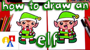 how to draw a cartoon christmas elf youtube