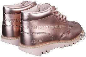 womens kickers boots kickers branded womens boots kick hi lite metallic sizes 36 41