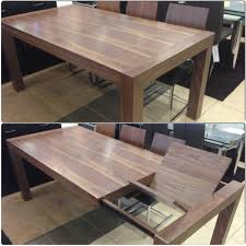 modern dining tables canada walnut extendable dining table with butterfly leave on display at