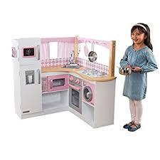 amazon cuisine enfant kidkraft cuisine enfant en bois grand gourmet corner amazon fr