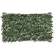 artificial leaf hedge screening garden expanding trellis privacy
