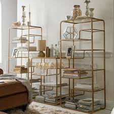 enzo tall shelf glass shelves shelves and wrought iron