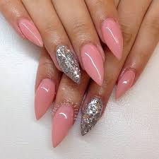 Light Pink Acrylic Nails Light Pink Glitter Acrylic Nails Top 35 Incredible Pointed