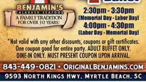 Old Country Buffet Coupon Buy One Get One Free by Original Benjamin U0027s Calabash Seafood 4 Off Buffet
