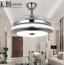 Chandelier Lights Singapore Kbs 42 U0027 U0027 Leaf Invisible Electric Led Dimmable Ceiling Fan Light