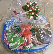 Christmas Cookie Gift Basket Cedargap Creations Cookies Snowman Reindeer Christmas Cookie Gift