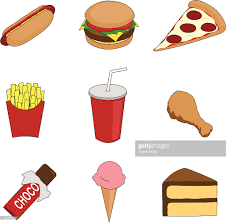 food vector an illustration of various fast food icons vector art getty images
