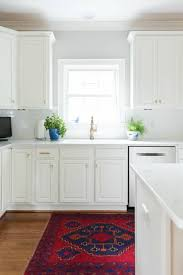 white kitchen cabinets with gold countertops our white and gold kitchen makeover trevey home