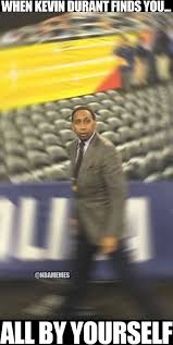 Stephen A Smith Memes - rt nbamemes kevin durant when he sees stephen a smith thunder