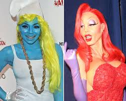 celebs who made total halloween transformations photos