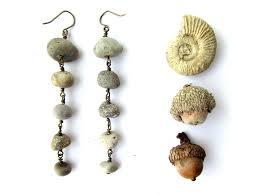earrings world river rock earrings for nature goddesses ceramic