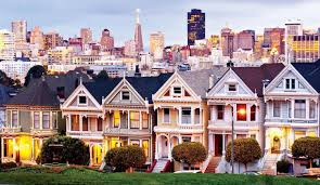 san francisco map painting painted san francisco architecture bay city guide san